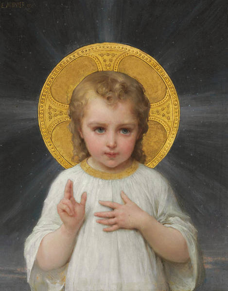 Gods Children Wall Art - Painting - Jesus by Emile Munier