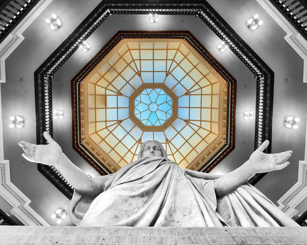 Photograph - Jesus Halo by Mark Dodd