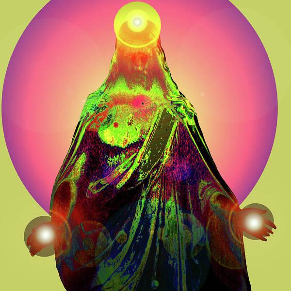 Sacred Heart Church Mixed Media - Jesus Healing No. 03 by Ramon Labusch