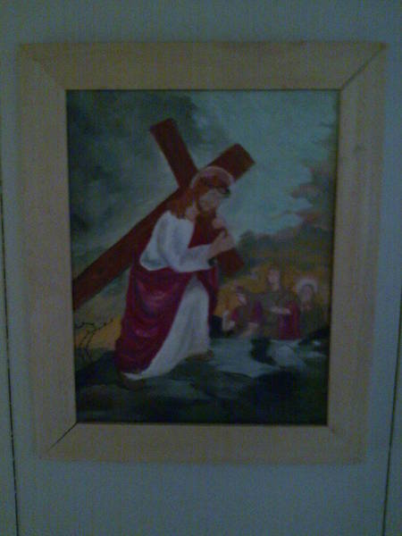 Follow Me Painting - Jesus  by Helen Vanterpool