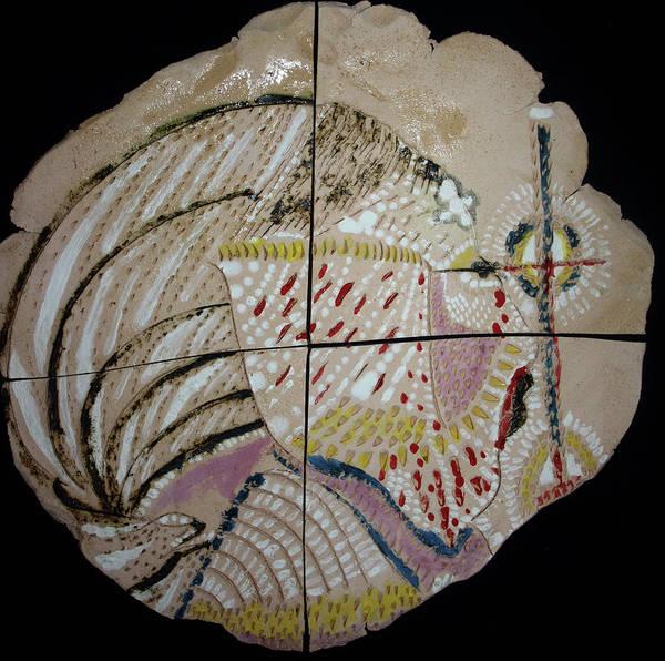 Ceramic Art - Jesus In Gethsemane - Plaque by Gloria Ssali