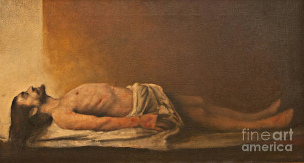 Wall Art - Painting - Jesus Is Laid In The Tomb. by Dan Radi