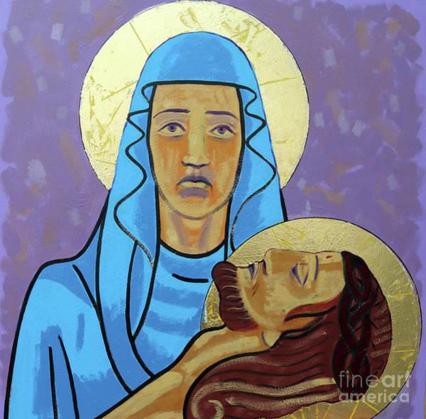 Golgotha Painting - Jesus Is Taken Down From The Cross by Sara Hayward