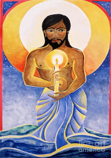 Painting - Jesus - Light Of The World - Mmlow by Br Mickey McGrath OSFS