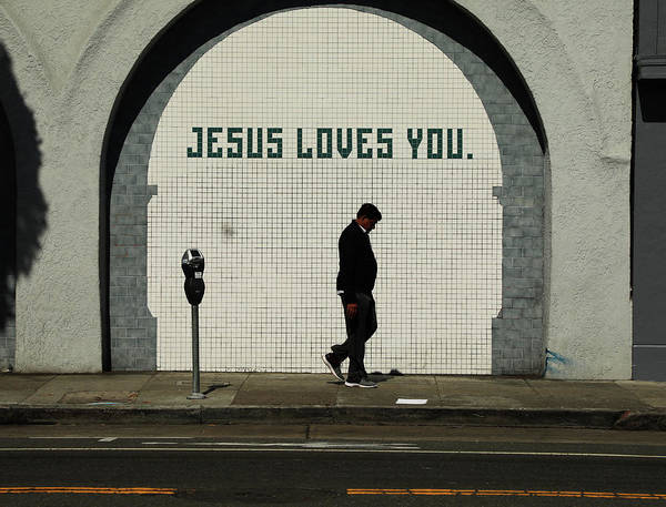 Wall Art - Photograph - Jesus Loves You by The Artist Project