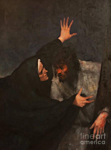 Wall Art - Painting - Jesus Meets His Mother by Dan Radi