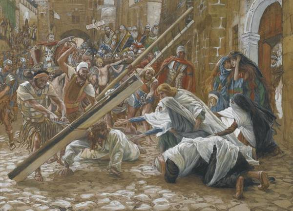 Painting - Jesus Meets His Mother by Tissot