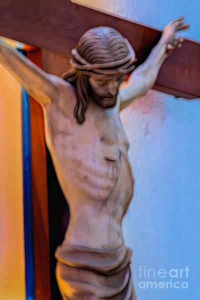 Digital Art - Jesus On The Cross by Ray Shiu