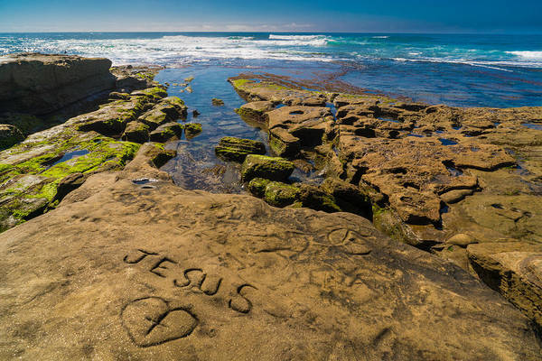 Photograph - Jesus On The Rock by Scott Campbell