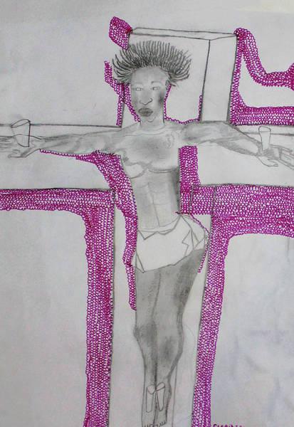 Painting - Jesus Saviour by Gloria Ssali