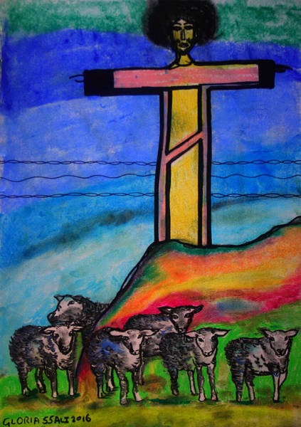 Painting - Jesus Second Coming by Gloria Ssali