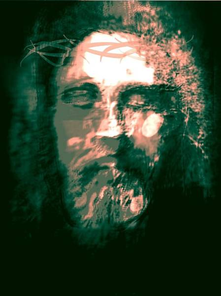 Wall Art - Painting - Jesus The Man by Larry Lamb