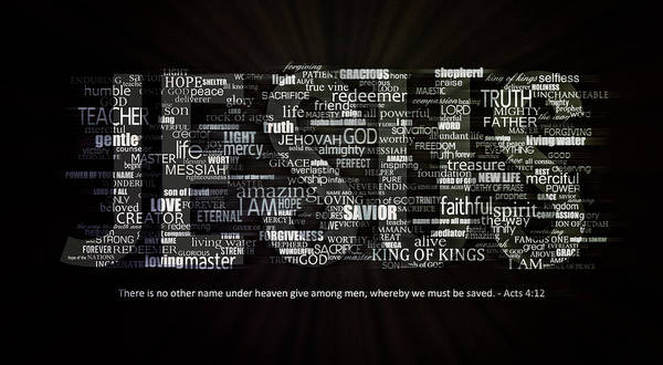 Wall Art - Digital Art - Jesus Typography by Daniel Hagerman