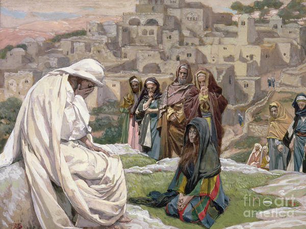 Kneeling Painting - Jesus Wept by Tissot