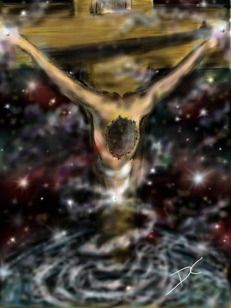 Digital Art - Jesus World by Darren Cannell