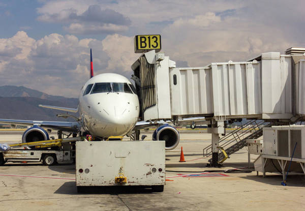 Photograph - Jet At Gate by Kyle Lee