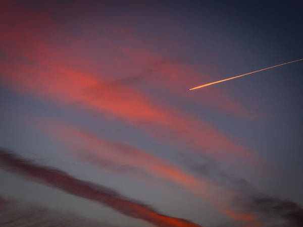 Photograph - Jet At Sunrise Over Ireland's Shannon River Valley by James Truett
