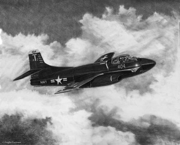 Drawing - Jet Nightfighter by Douglas Castleman