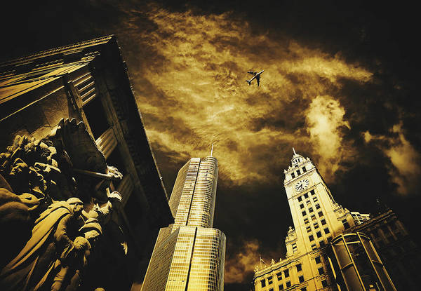 Wall Art - Photograph - Jet Over Michigan Avenue by Pixabay