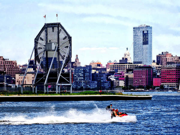 Photograph - Jet Skiing By Colgate Clock by Susan Savad