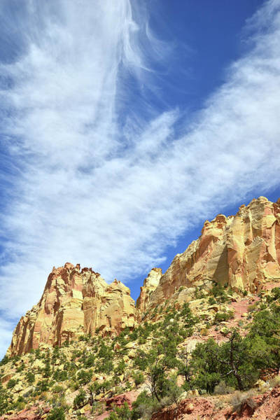 Photograph - Jet Stream Clouds Over Burr Trail by Ray Mathis