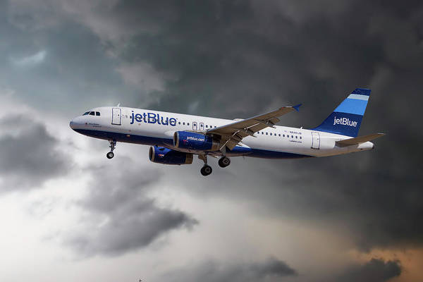 Jetblue Wall Art - Photograph - Jetblue Airways Airbus A320-232 by Smart Aviation