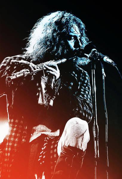 Progressive Rock Painting - Jethro Tull, Ian Anderson by Andrea Mazzocchetti