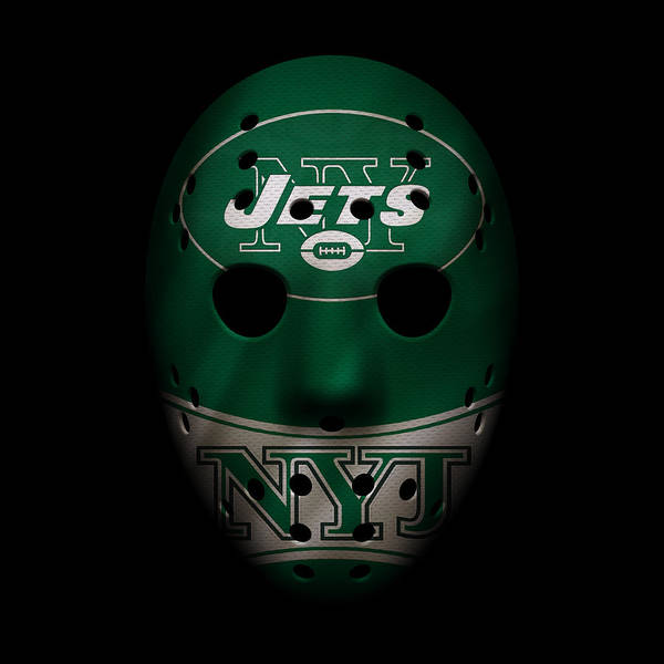New York Jets Wall Art - Photograph - Jets War Mask 2 by Joe Hamilton