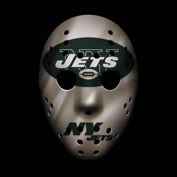 New York Jets Wall Art - Photograph - Jets War Mask by Joe Hamilton