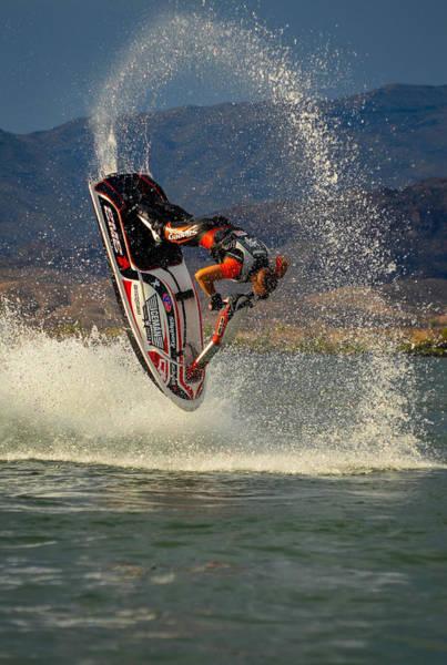 Freestyle Photograph - Jetski Flip by Joy McAdams