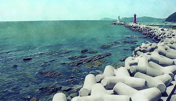 Photograph - Jetty At Ilgwang Beach, South Korea by Susan Maxwell Schmidt