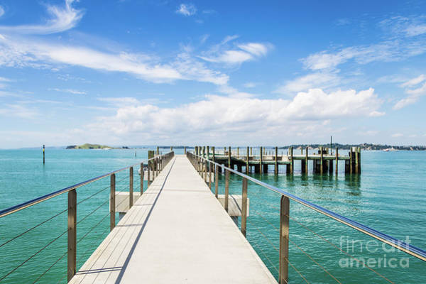 Photograph - Jetty In The Rangitoto Island by Didier Marti