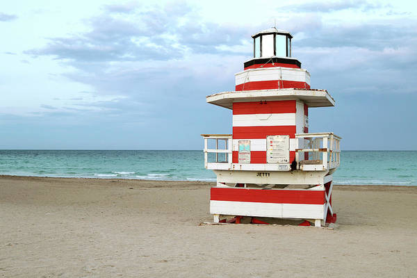 Wall Art - Photograph - Jetty Lifeguard Tower - Miami Beach by Art Block Collections
