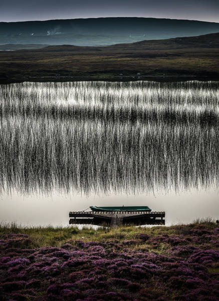Photograph - Jetty, Loch Na Maracha, Isle Of Harris by Peter OReilly