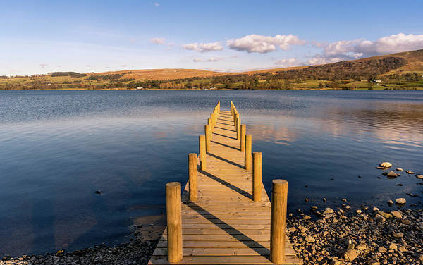 Pooley Bridge Wall Art - Photograph - Jetty View At Ullswater by Naylors Photography