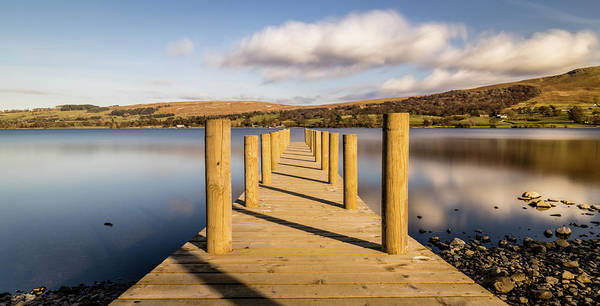 Pooley Bridge Wall Art - Photograph - Jetty View To The Helvellyn Mountains by Naylors Photography