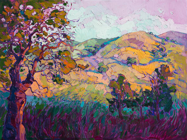 California Wine Country Painting - Jewel Light by Erin Hanson