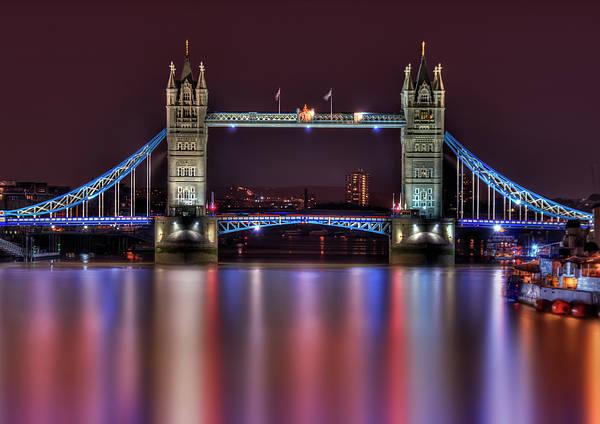 London Bridge Photograph - Jewel Of The Night by Evelina Kremsdorf