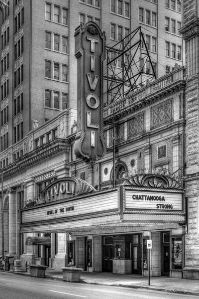 Wurlitzer Photograph - Jewel Of The South B W Historic Tivoli Theater Chattanooga Tennessee Art by Reid Callaway