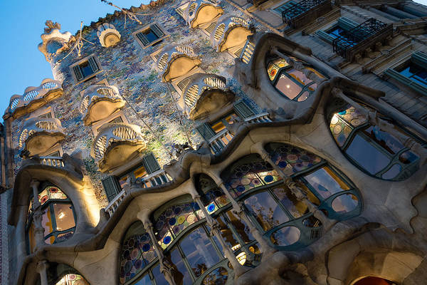 Photograph - Jewel Toned Masterpiece - Antoni Gaudi Casa Batllo In Barcelona, Spain by Georgia Mizuleva