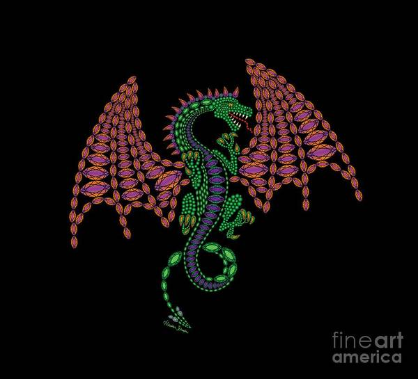 Digital Art - Jeweled Dragon by Heather Schaefer