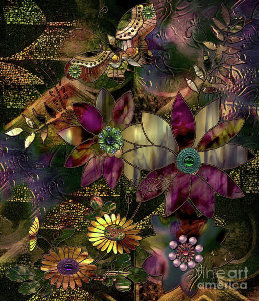 Wall Art - Painting - Jewelry Box Garden by Mindy Sommers