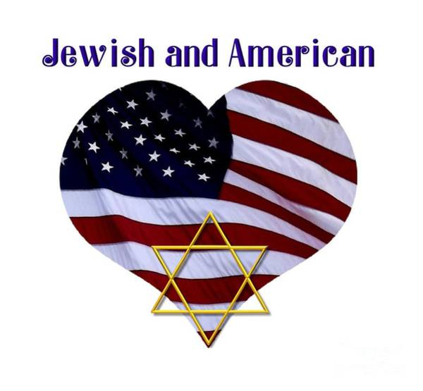 Photograph - Jewish And American Flag With Star Of David by Rose Santuci-Sofranko
