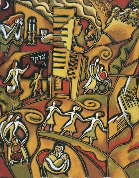 Wall Art - Painting - Jewish Community by Leon Zernitsky