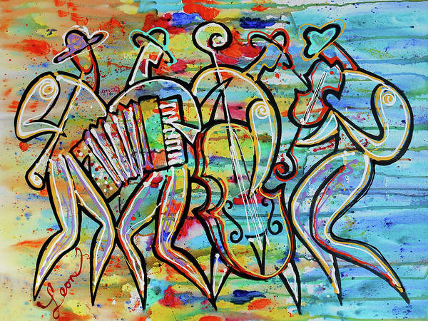 Wall Art - Painting - Jewish-funk Klezmer Music by Leon Zernitsky