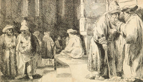 Relief - Jews In The Synagogue by Rembrandt