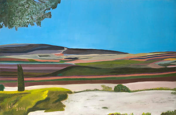 Avi Painting - Jezreel Valley Israel by Avi Lehrer