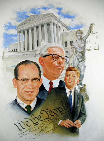Painting - Jfk-justices by Cliff Spohn