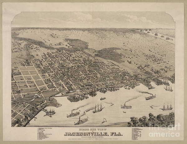 Photograph - Jacksonville Fla 1876 by Dale Powell