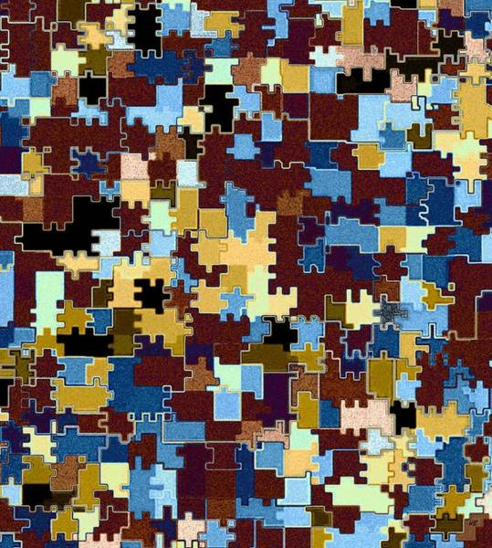 Borden Digital Art - Jigsaw Abstract by Will Borden